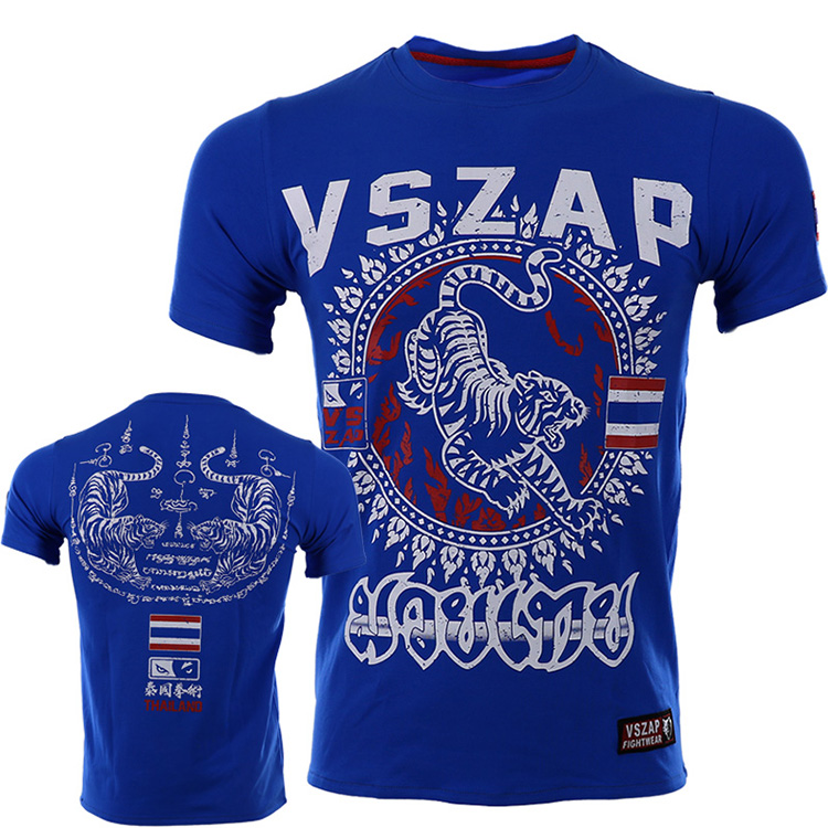 VSZAP Tiger THAI MUAY THAI Fight  Fight THAI Sports For Fitness MMA Martial Arts Short Sleeve T-shirt Man