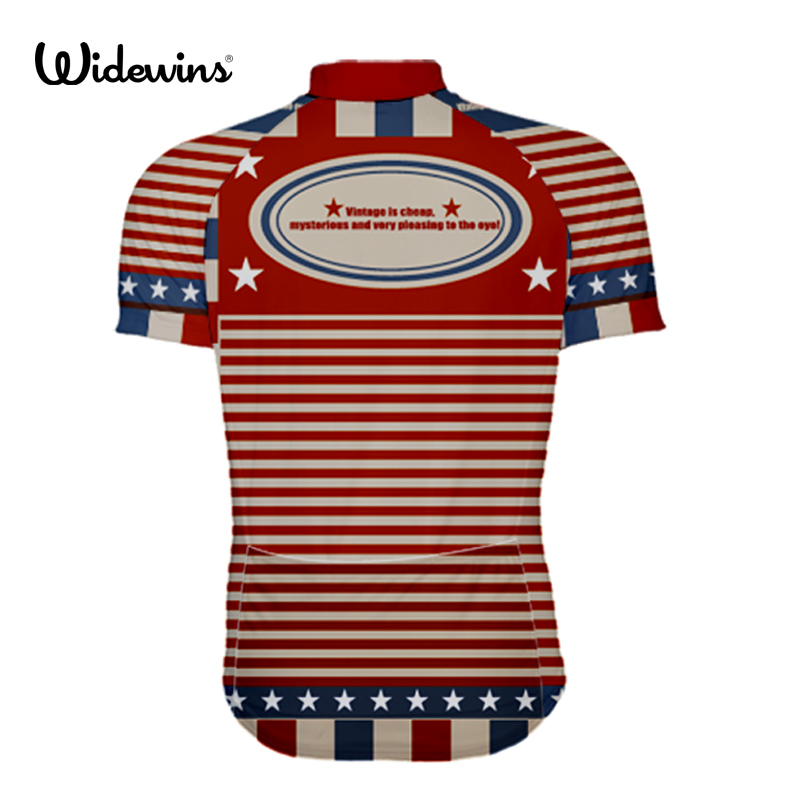 665fe6d6447 2019 Top Quality America Mens PRO TEAM vintage Race Cycling Jersey Road Mtb  Short Sleeve Bicycle Shirt bike gear USA 5825-in Cycling Jerseys from  Sports ...