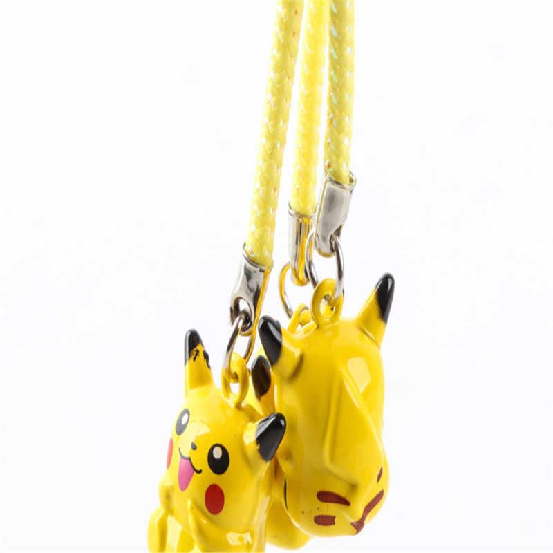 1 Pcs Bonito Dos Desenhos Animados Pokemon Pikachu Elf Brinquedo Sino Bola Keyring Meninos Pingente de Chave Anéis Da Cadeia Para Mochila Crianças presente
