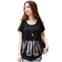 Off The Shoulder Tops For Women T Shirt Cotton T Shirt Women Tee Shirt Femme Camisetas