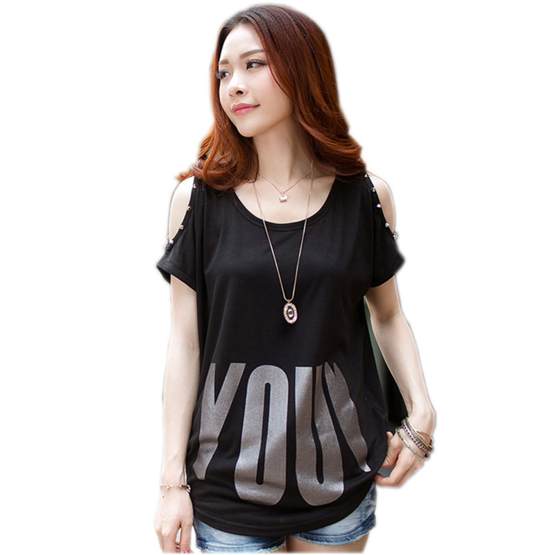 off the shoulder tops for women t shirt cotton t-shirt women tee shirt femme camisetas mujer pluse size sequin top paillettes
