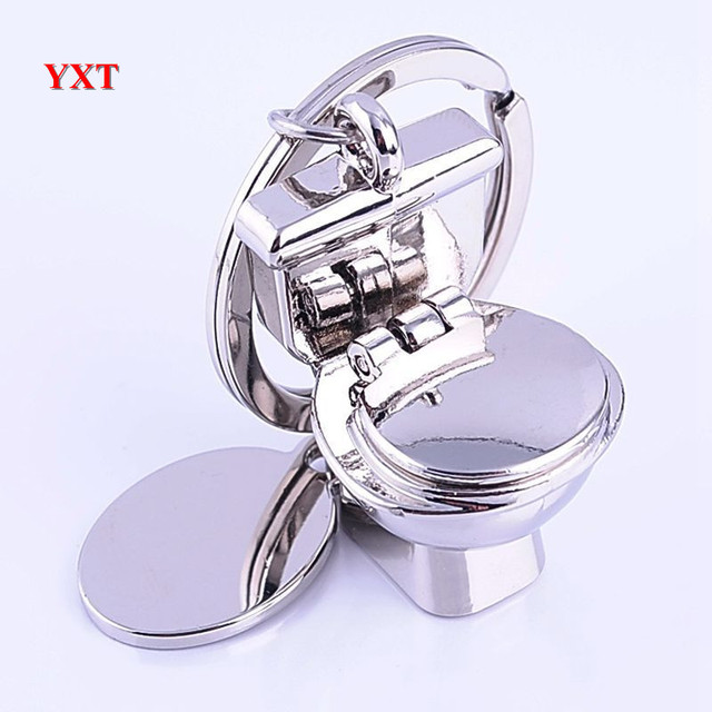 new design toilet key ring mini chain classic 3d keychain bathroom cute charm creative friend gift