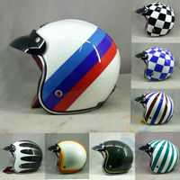Hot Motocross Helmets 9 Colors MASEI Ruby Vintage Helmet 3 4 Open Face Scooter Helmet Vintage
