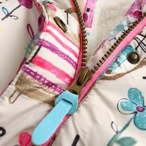 Image 3 - 新秋冬子供用 1 7 t 落書きパーカーフード付きコート暖かい上着子供服ベビー