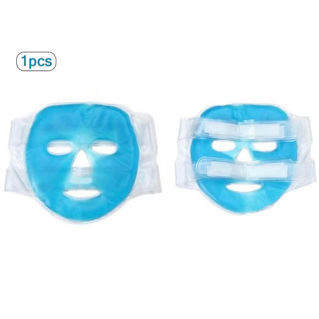 1 Pcs Cold Gel Face Mask Ice Compress Blue Full Face Cooling Mask Fatigue Relief Relaxation Pad With Cold Pack Faicial Care 20 4