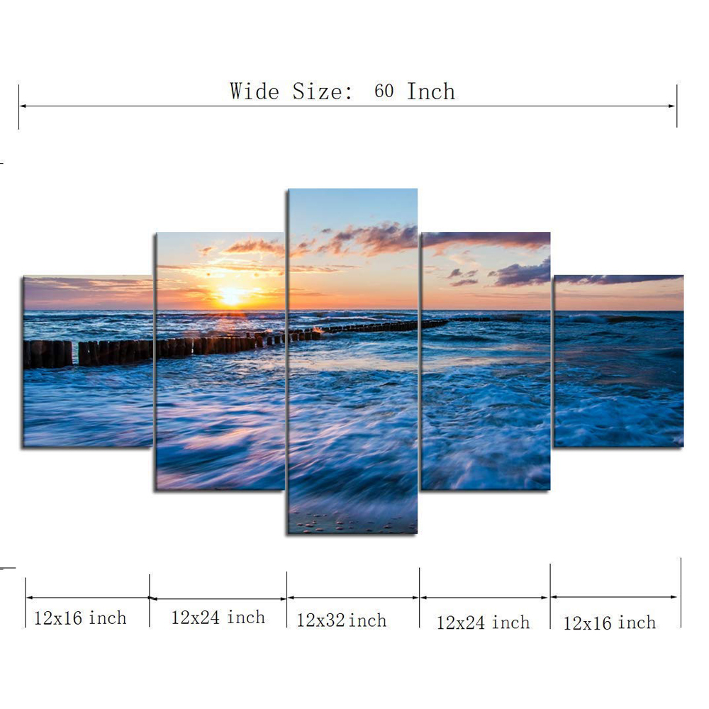 US $6 17 48% OFF|Custom Size Spectacular Ocean Storm Canvas Paintings Huge  Waves Posters Prints Sea Wall Art Pictures for Living Room Home Decor-in