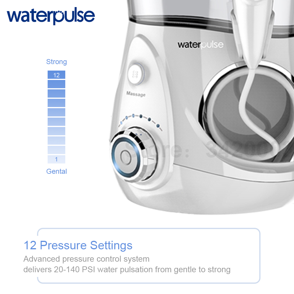 Image 2 - Waterpulse V660 Pro 8 Nozzles Oral Irrigator 12 Pressure Floss Massage Dental Water Electric Flosser Irrigator Oral Water Dental-in Oral Irrigators from Home Appliances