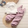 KYNE 2016 Outono Nova Primavera crianças meninos meninas Desenhos Animados do Coelho do bebê Conjuntos de Roupas de Algodão T-Camisa + Calças Conjuntos terno 12 M-4 T