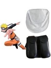 Naruto Uzumaki Ninja Cosplay Weapon Kunai Leg Bag + White Waist Shuriken Pack Cosplay Accessories Props