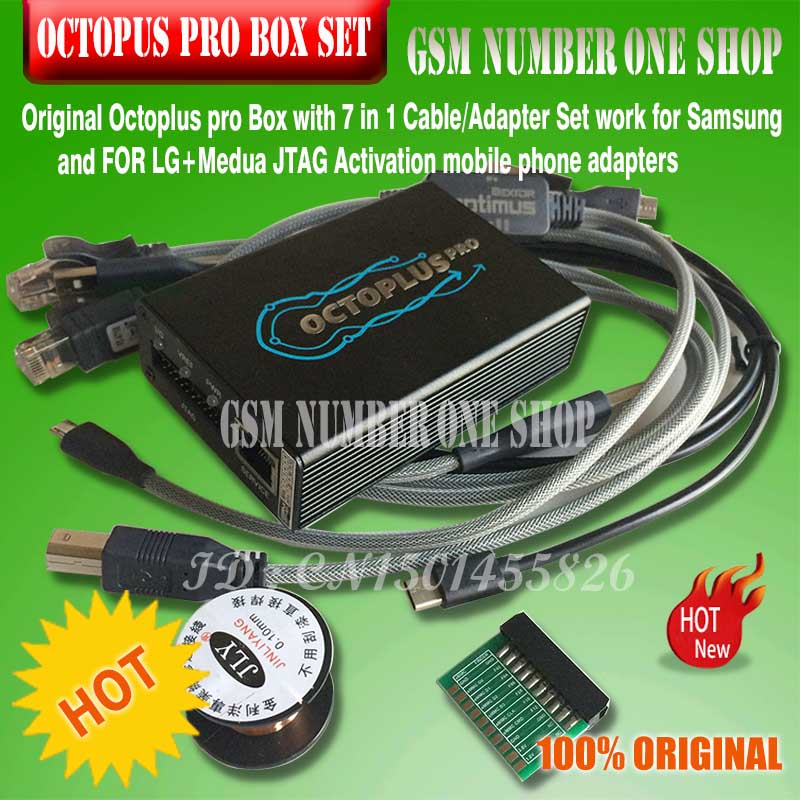 Octoplus Pro Box 5 Cables Adapter 8 in one Set Activated For Samsung LG EMMC JTAG