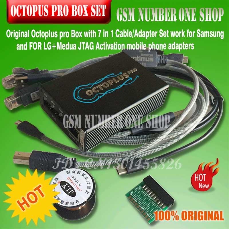 Boîte Octoplus Pro + 5 câbles/adaptateur/8 en un ensemble (activé pour Samsung + LG + EMMC/JTAG)