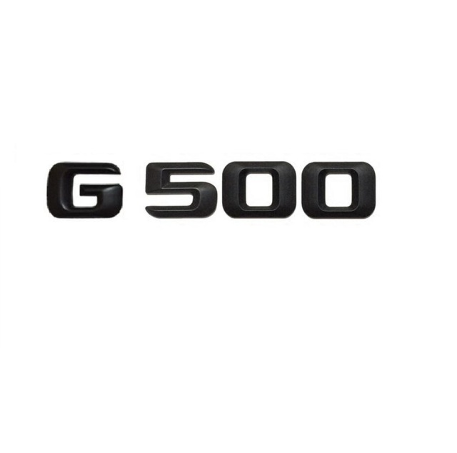 Matt black g 500 car trunk rear letters words number badge emblem decal sticker