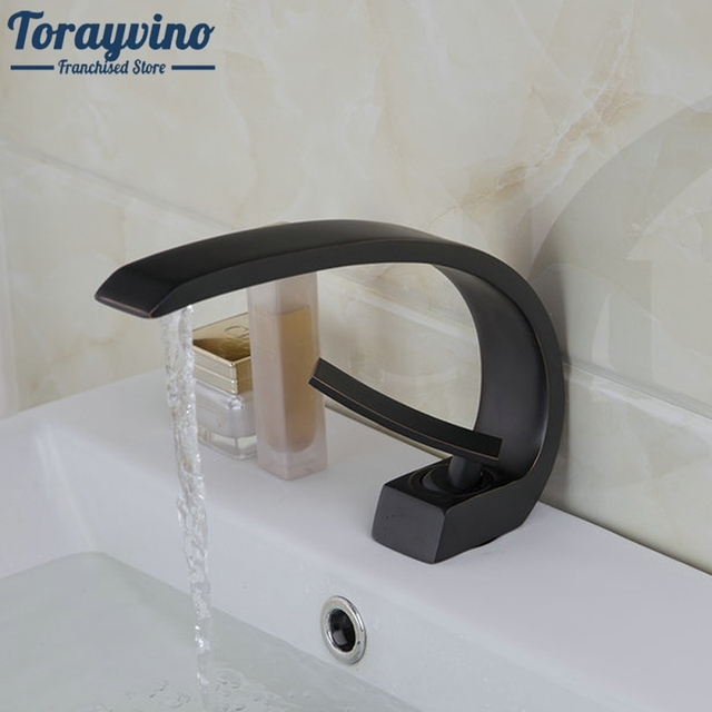 Beautiful New Design Bathroom Sinks Faucet Oil Rubbed Bronze Deck Mounted Mixer Basin  Tap Solid Brass Bathroom