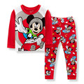 2017 Crianças define para meninos Algodão Pijamas Pijamas Babys Roupas de alta qualidade ternos Do Bebê Conjuntos de Underwear crianças pijama define 2-7a c30