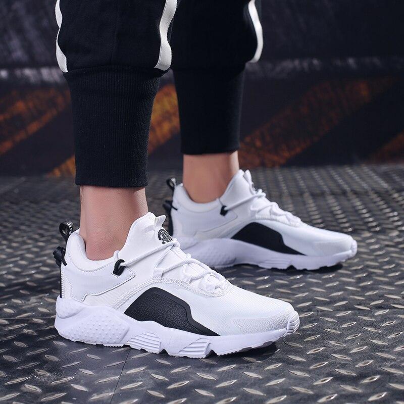 081 Plataforma Respirável Black Da De 47 grey red Dos ~ 39 Menino Sneakers Esporte Sapatos Couro Tênis Homens Homem 2019 Casuais white Moda xIHUUZ