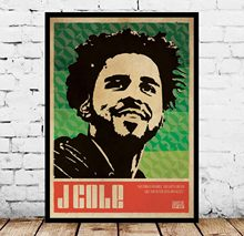 J Cole música Vintage Hip Hop Pop cartel pared arte(China)