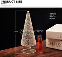 Clear Glass Mini Christmas Tree Creative Table Decoration Ornament 20cm