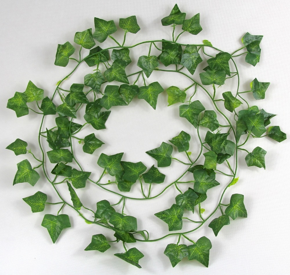 Cute Diy Artificial Flowers Vine Green Star Shape 81 Leaves