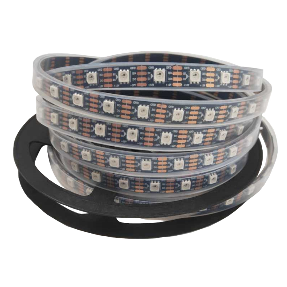WS2815 DC12V (WS2812B/WS2813) RGB LED Pixels Strip Light Tape Individually Addressable LED Dual-Signal 1m/5m 30/60/144 Pixels/m
