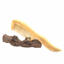 2016 Popular Natural Green Sandalwood Hair Comb Tip Handle 22cm Length Massage Hair Care Tools Free