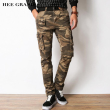 HEE GRAND Men Casual 2018 100% Cotton Material Multi-Pockets Design Slim Fitted