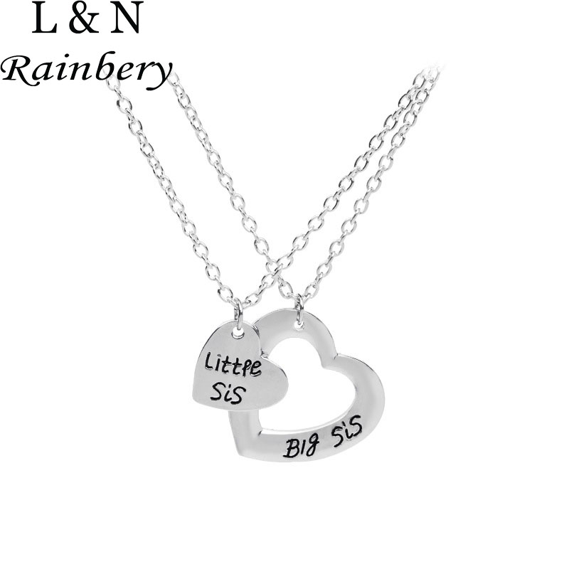 Rainbery 2018 New Sister Necklace Matching Little Sister Big Sister Necklace Set Of 2 Gift - Big Sis Middle Sis Little Sis