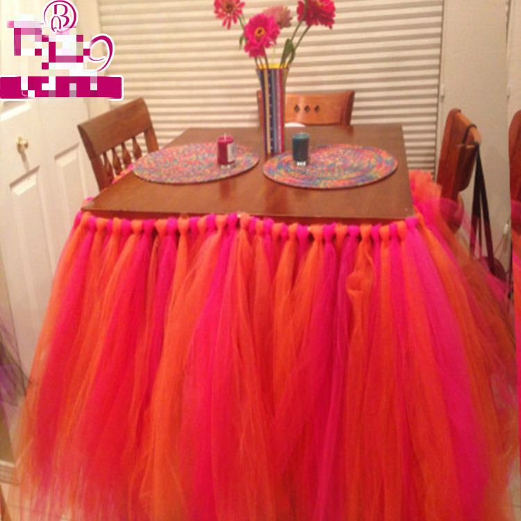 80x91 5cm Wedding Tutu Skirt For Table Home Hotel Red
