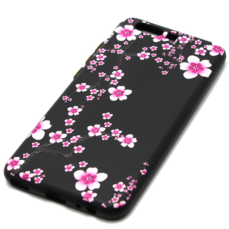 3D Relief flower silicone  case huawei p10 (13)