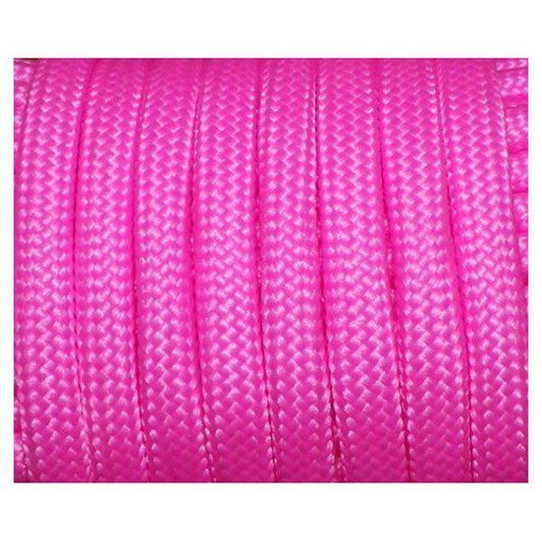 550 Paracord 7 Inner Strands Mil Spec Type III Bushcraft Survival Lanyard Rope, 100 FT Bright Pink (#53)