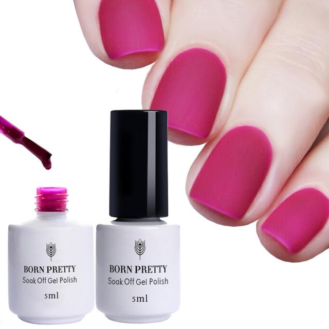BORN PRETTY 5ml Matte Nail Polish 27 Colors Soak Off UV Gel Manicure Candy Color