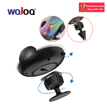 WOJOQ Car Wireless Charger Outlet QI Vehicle Mobile Phone Fast Wireless Charging Stand 360 Degree Rotate with 2 Style Holder