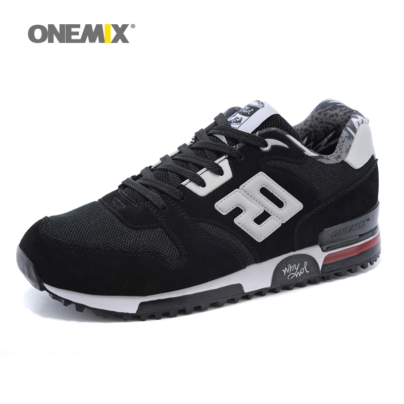 все цены на  ONEMIX Men Retro 750 Running Shoes Rubber Leather Sport Women Trainers Sneakers Breathable Female Walking Jogging Shoes EU 36-44  онлайн