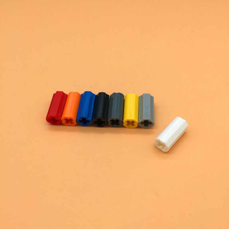 30Pcs/Lot TECHNIC PARTS Technic Axle Connector Smooth Bricks Parts DIY Block Bricks Set Toys Compatible with 59443/6538c