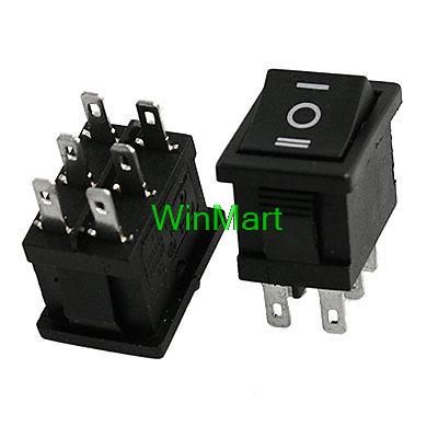 Quality 10 Pcs Dpdt On-off-on 3 Position Snap In Boat Rocker Switch 6a/250v 10a/125v Ac Superior In