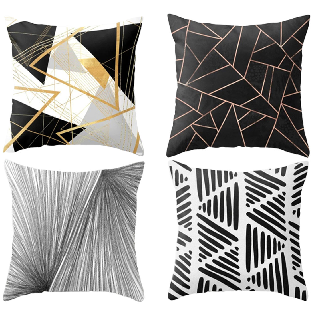 Colorful Pillow Case 45x45 Home Decor Cushion Cover Simple Geometric Throw Pillowcase Pillow Covers