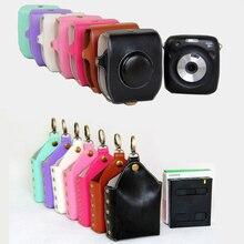 Чехол из искусственной кожи чехол для камеры, защитный чехол для камеры Instax SQ10 SQ 10 SQ 10 Polaroid, чехол с ремешком