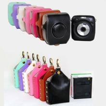 بو الجلود حالة حقيبة كاميرا غطاء الحقيبة حامي ل Instax SQ10 SQ 10 SQ 10 بولارويد كاميرا فوتوغرافية حالة مع حزام