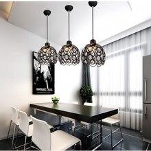 Современные подвесные светильники E27 подвесные светодиодный подвесной светильник с украшением в виде кристаллов хрустальный шар люстры подвесной светильник для столовой Кухня Спальня