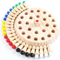 Kids party game Wooden Memory Match Stick Chess Game Fun Block Board Game Educational Color Cognitive Ability Toy for Children