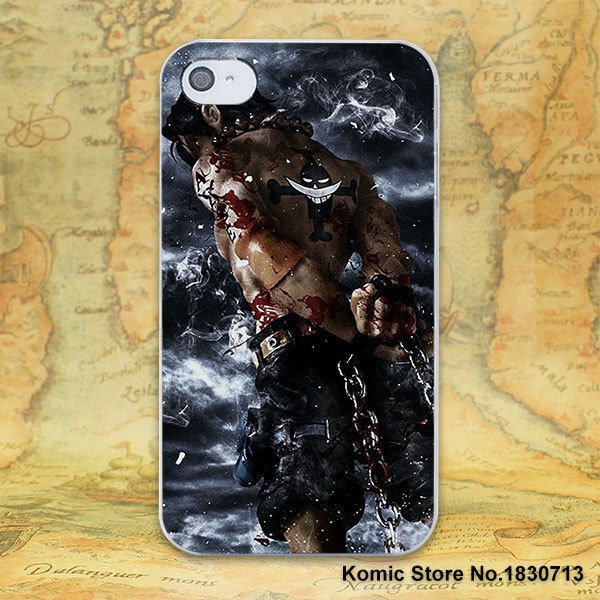 One Piece luffy Hard Transparent Cover Case for iPhone