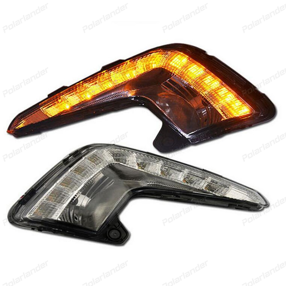 2 Pcs/set LED Daytime Running Light :for K/ia K2 And for K/ia R/IO 2011-2013  DRL With Turning Signal Lights hot selling 2 pcs car accessory daytime running lights car styling for k ia k 2 r io 2011 2013