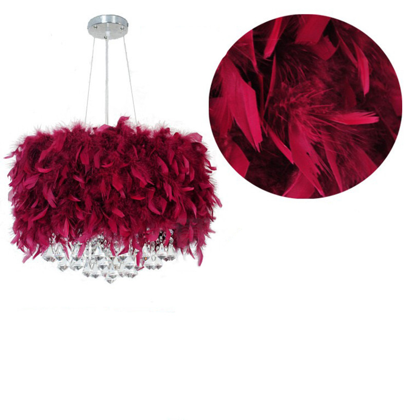 Roman diamond crystal pendant lamps dining room pendant light feather wedding interior lighting fixture crystal hanging lights