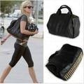 Европейский стиль мода заклепки сумки женщин сумки посыльного средний плеча дамы свободного покроя тотализатор для леди