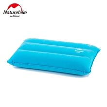 Naturehike Portable Outdoor Inflatable Pillow Sleeping Gear Inflated Compressed Folding Non-slip Suede Fabric Travel