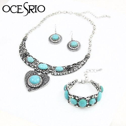 OCESRIO Blue Stone Jewelry...