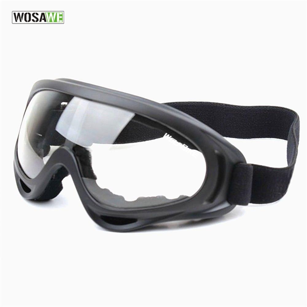 WOSAWE UV Protection Sports Ski Snowboard Skate Goggles Glasses Outdoor Motorcycle Ski Goggle Glasses Eyewear Lens Black