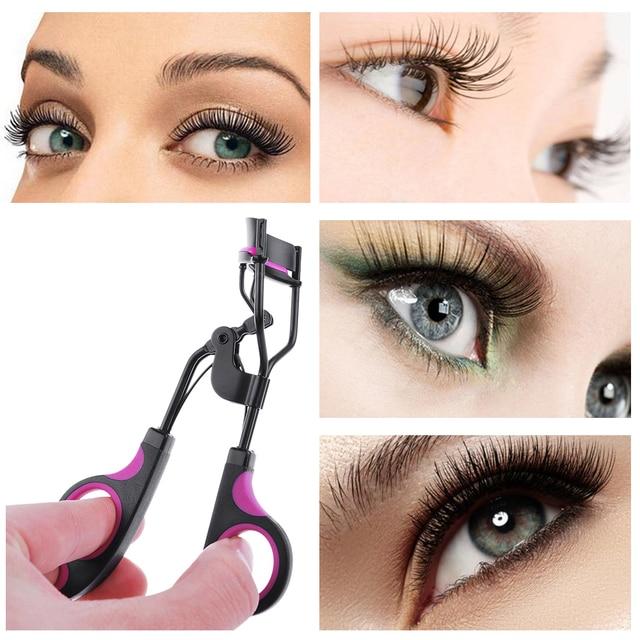 1PC New Fashion Useful Big Eye Eyelash Curler Tweezers Curling Eyelash Clip Cosmetic Beauty Makeup Tool Natural Effect False Eyelashes