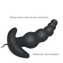 Vibrating Anal Plug Waterproof Black 10 Mode Silicone Anal Sex Toy For men anal vibrator Butt Plug erotic sex product for women