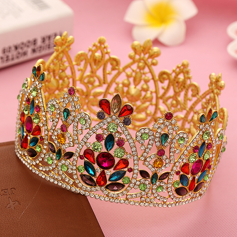 Large Luxurious Crystal Wedding Bridal Queen Tiara Crown For Bride Headpiece Women Prom Hair Ornaments Hair Jewelry Accessories