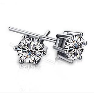 Swiss Crystal Stud Imperial Crown Earrings Wedding Earrings For Women / Man Bride Wedding Jewelry Wholesale 30 Pair/lot Free shi